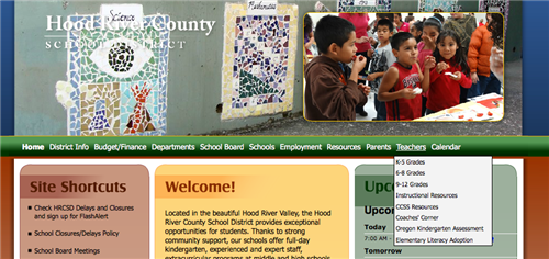 Home page to access CCSS Resources