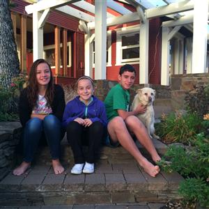 My amazing kids: Sofia, Ella, Sam and Blue the dog