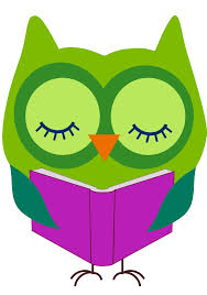 reading owl clipart