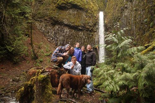 This is my family on a Christmas Day hike in the gorge.