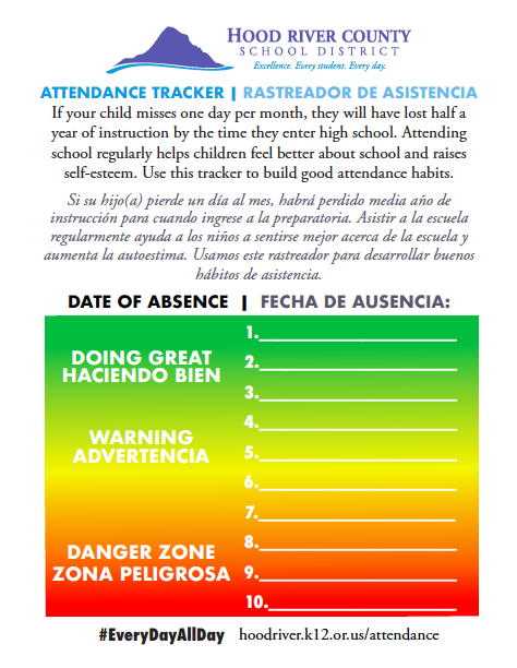 Screenshot of Attendance Tracker