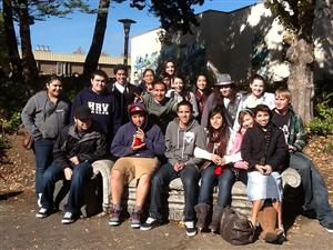 HRVHS Seniors on Mt. Hood Community College field trip--October 17, 2012.